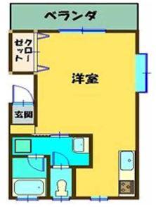 キャッスル松島・202号室の間取り
