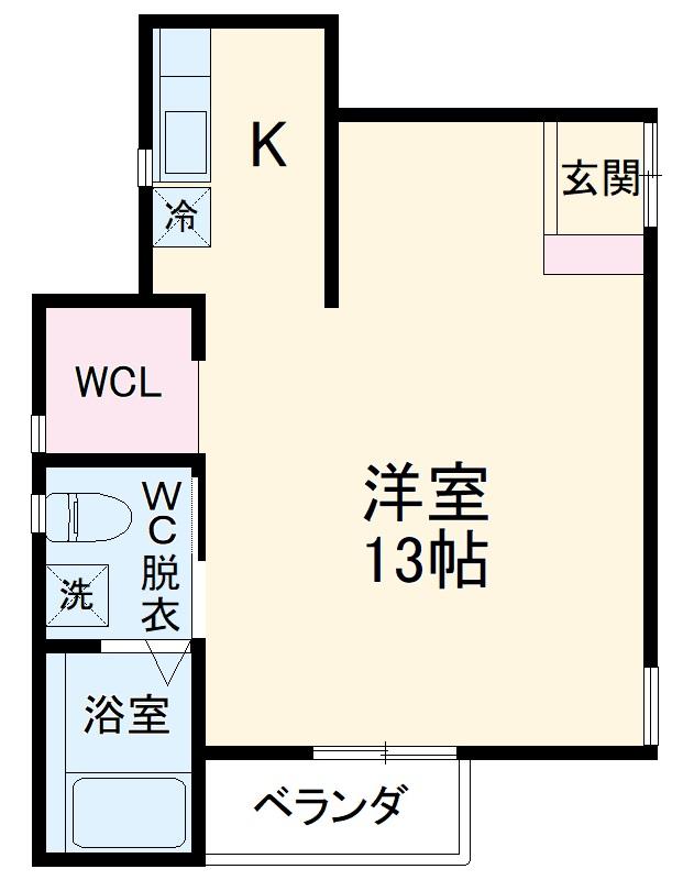 コートハウス新百合ヶ丘・201号室の間取り