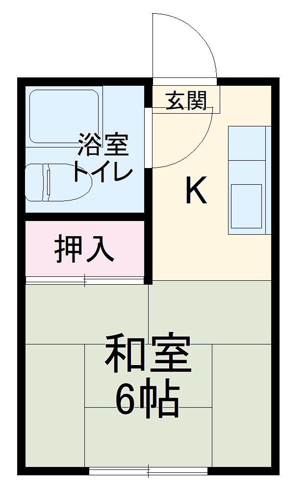 斉藤コーポ 2号棟 203号室の間取り