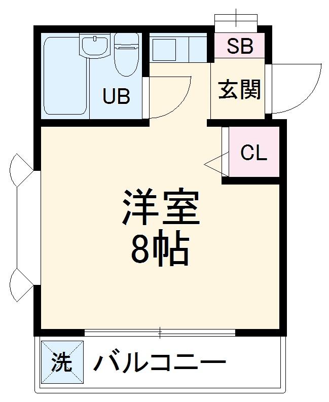 ローズアパートQ43番館・206号室の間取り