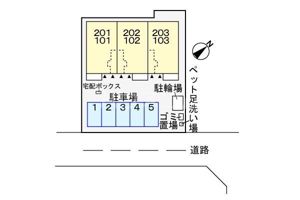 カルプ 02030号室の駐車場