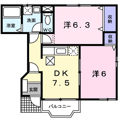 プリマベーラK・01020号室の間取り