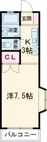 ピアハイツ旭・201号室の間取り