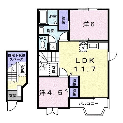 イーストハウス・02020号室の間取り