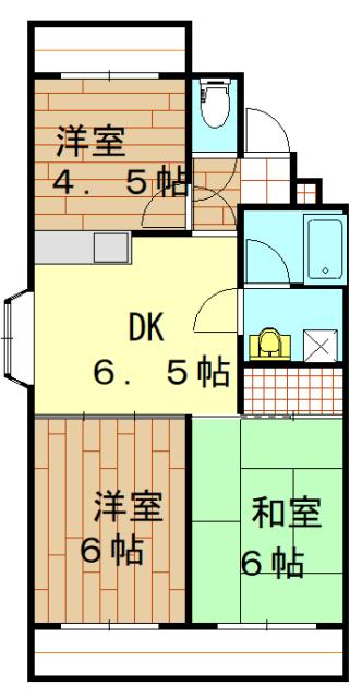 シャイン東川口第3・205号室の間取り