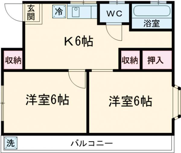 第三石井アパート・201号室の間取り