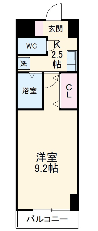 A・City三河安城東町・919号室の間取り