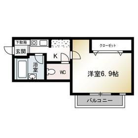 マーレ TAKEI 参番館・301号室の間取り