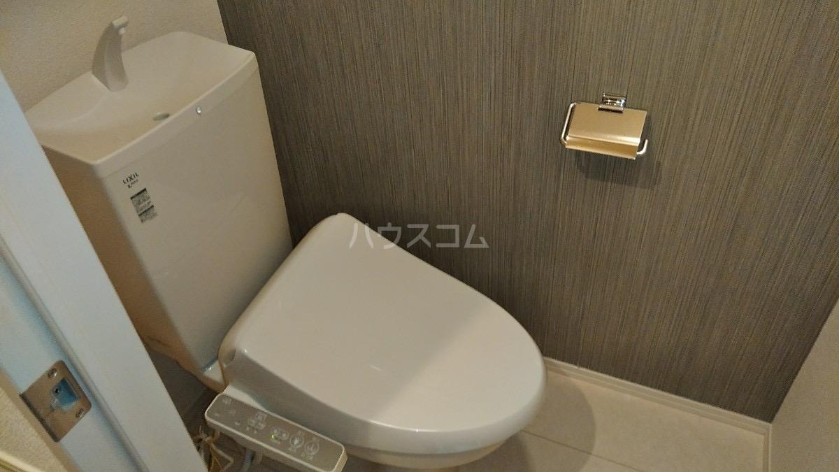 D-room松葉 105号室のトイレ