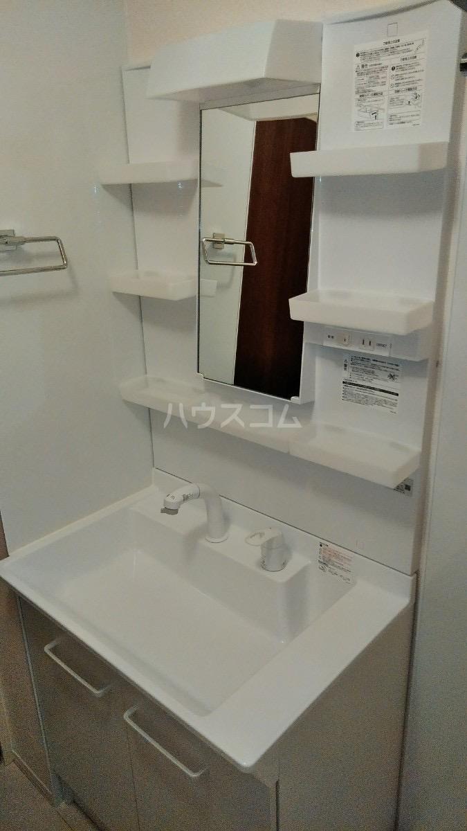 D-room松葉 205号室の洗面所