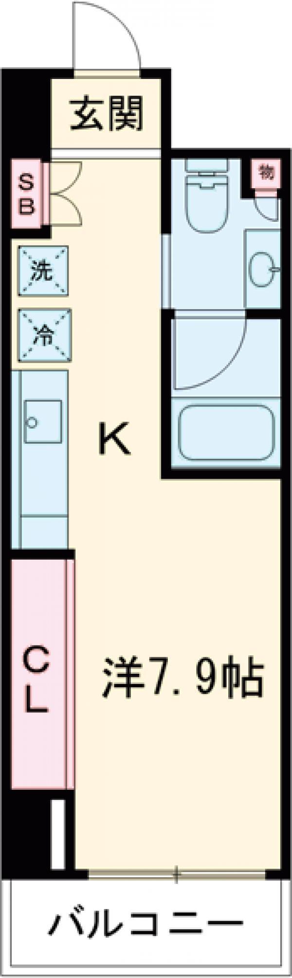 レジデンス雪谷大塚・503号室の間取り