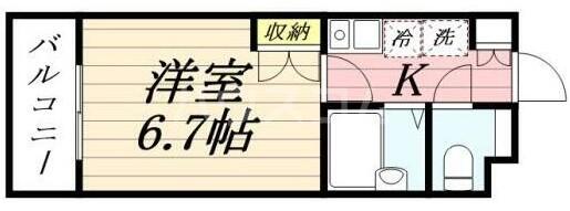 ザ・ハウス中野坂上・0405号室の間取り