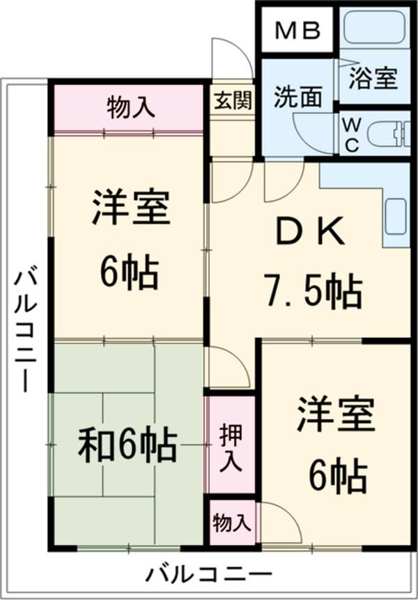 ロイヤルメゾンHAMADA 603号室の間取り
