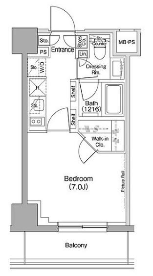 ザ・パークハビオ駒込 405号室の間取り