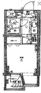 上板橋ダイカンプラザシティ 411号室の間取り