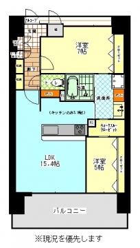 アルファステイツ浜松駅西 1103号室の間取り
