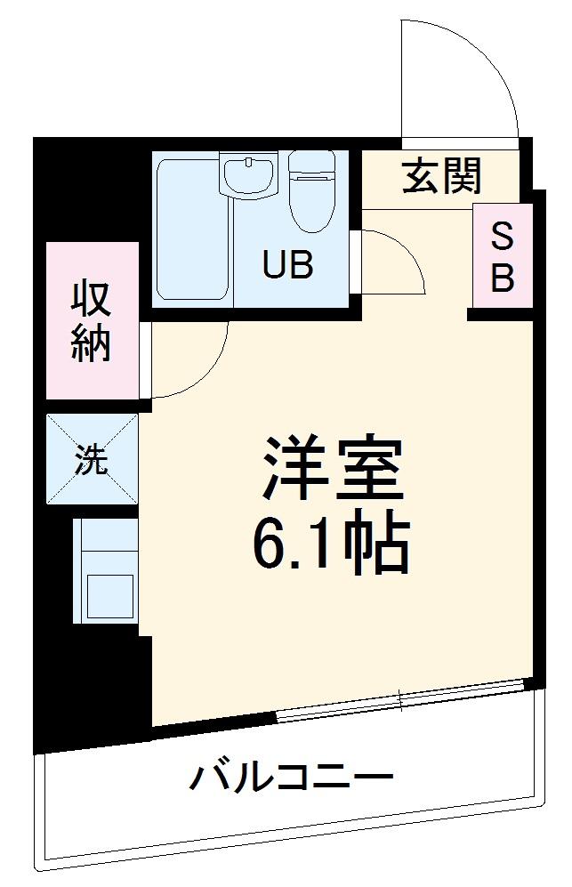 シーズ西横浜・201号室の間取り