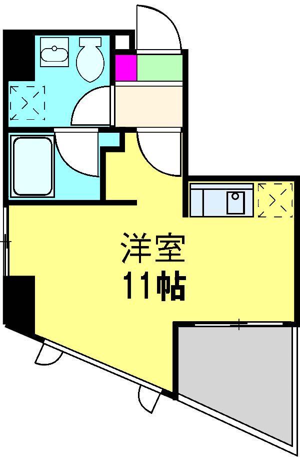 エンデュランス松戸・703号室の間取り