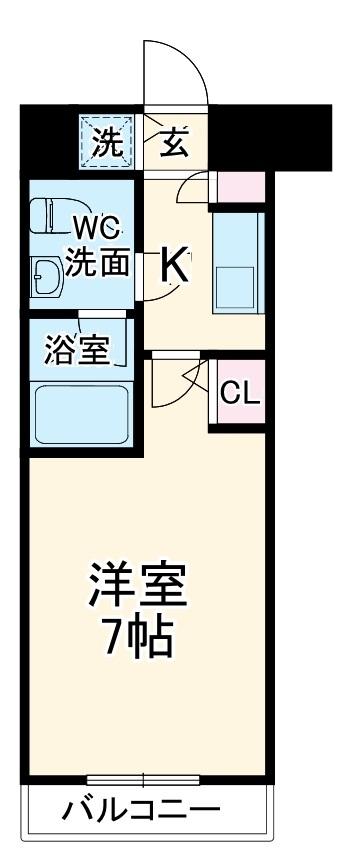 MajorLand横濱鶴見 507号室の間取り