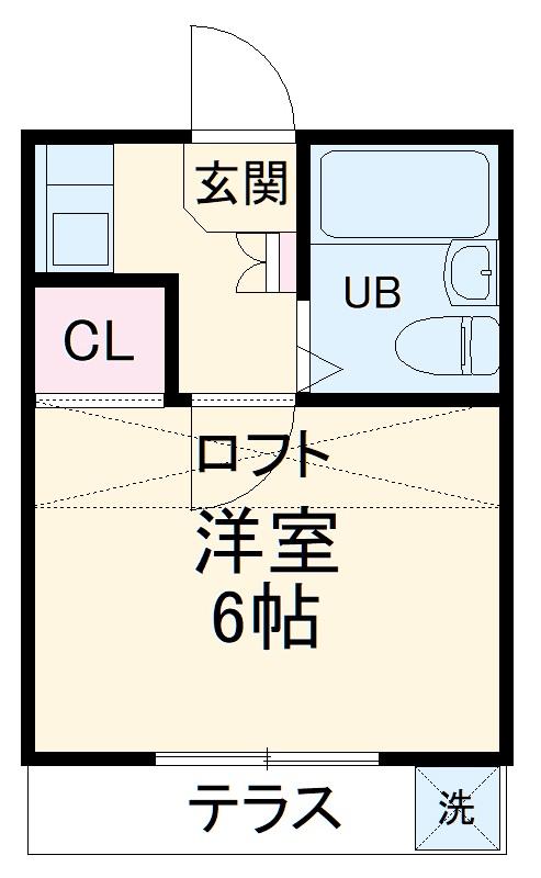 CoCo南栄 204号室の間取り