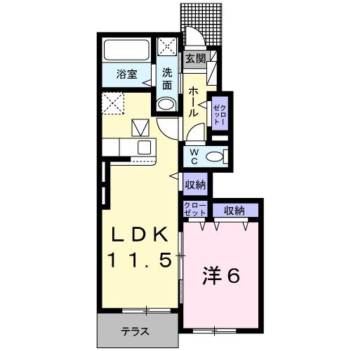 ガーデンハウス 梅の里 B・01030号室の間取り