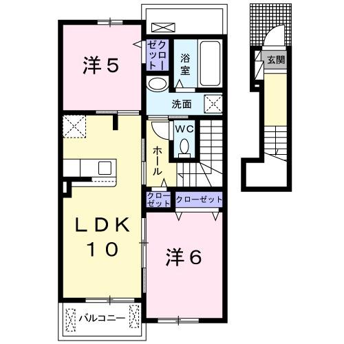 ガーデンハウス 梅の里 B・02030号室の間取り