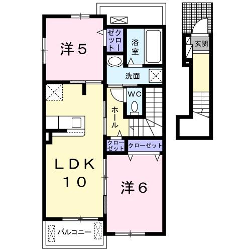 ガーデンハウス 梅の里 B・02040号室の間取り