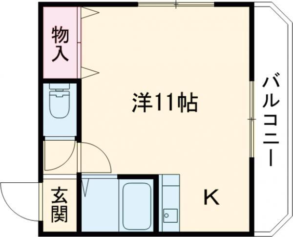 日東西中条マンション・305号室の間取り