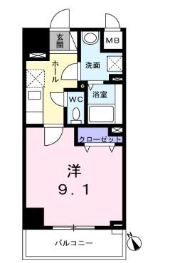 West Grove・03080号室の間取り