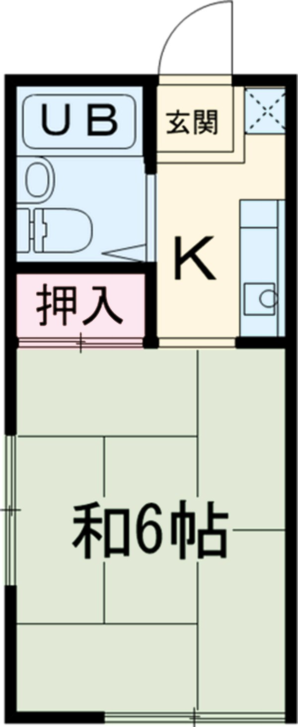AquaCity昭島・0101号室の間取り