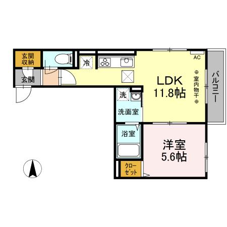 (仮)D-room中央林間西 203号室の間取り