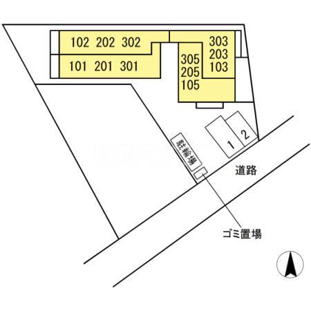 (仮)D-room中央林間西 203号室の駐車場