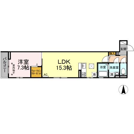 (仮)D-room中央林間西 301号室の間取り