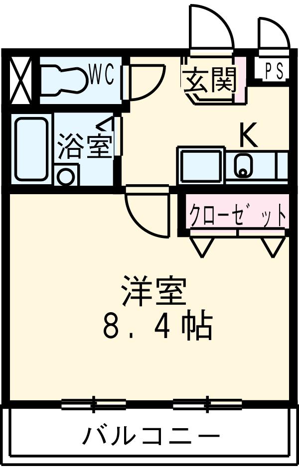 CBドリーム関山Ⅲ・202号室の間取り