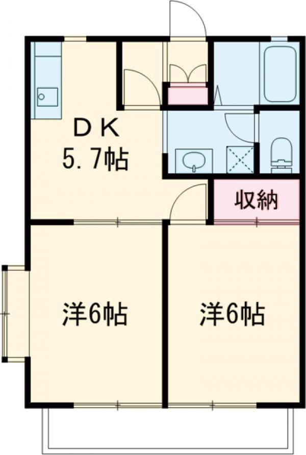 ソレーユ多摩川・201号室の間取り