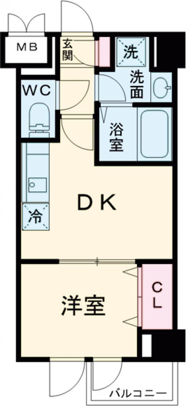 レジディア西小山・0106号室の間取り