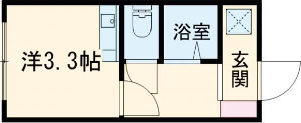 avancer成城a棟・101号室の間取り