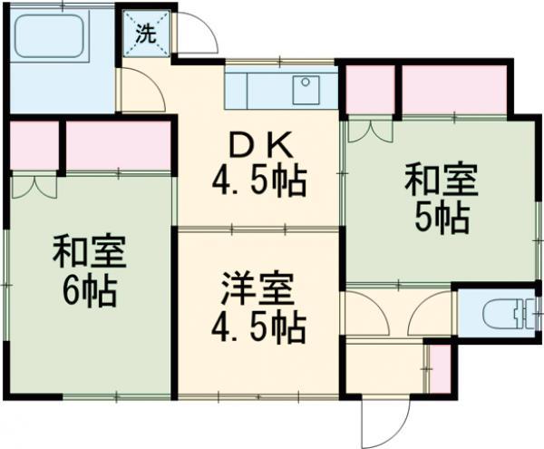 小澤様貸家2・8号室の間取り