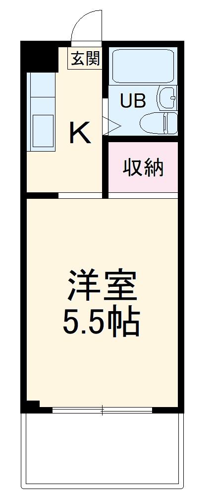 シャトール田口戸塚Ⅱ 103号室の間取り