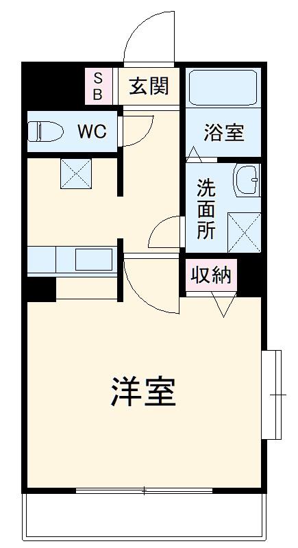 マーレ TAKEI 四番館・101号室の間取り