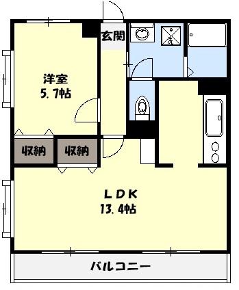 マーレ TAKEI 四番館・104号室の間取り