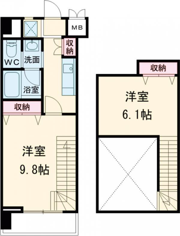成城ウエストワン・303号室の間取り