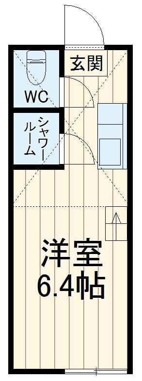 ユナイトステージ井土ヶ谷弐番館・102号室の間取り
