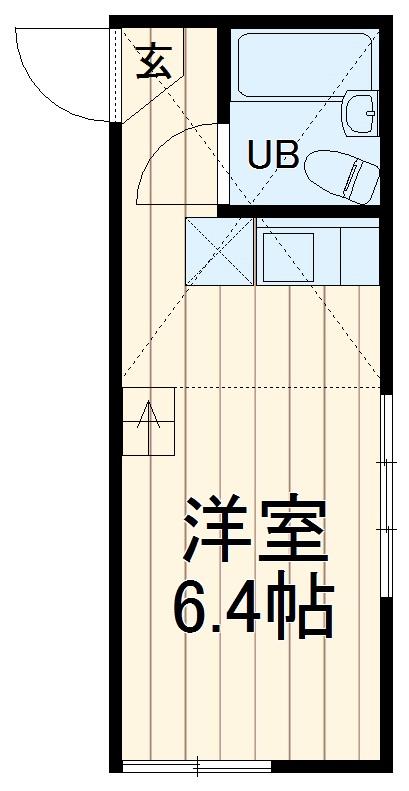 ユナイトステージ井土ヶ谷弐番館・107号室の間取り