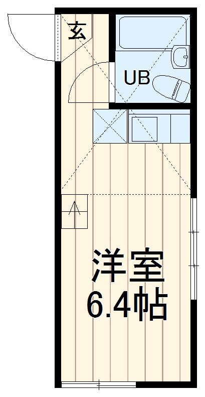 ユナイトステージ井土ヶ谷弐番館・207号室の間取り