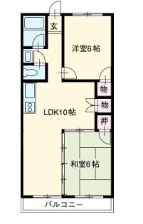 中京ウエストⅠ・403号室の間取り