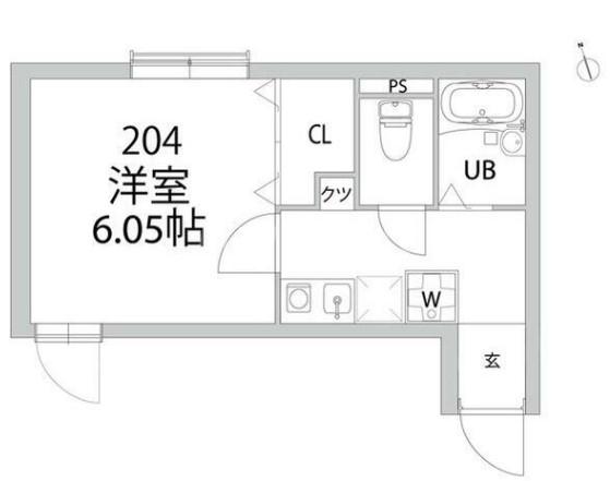 アトレ中野坂上・204号室の間取り