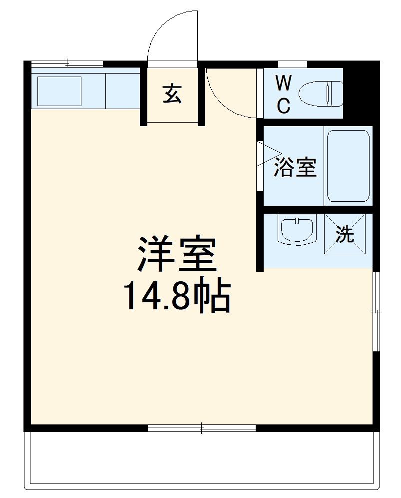 本野ケ原マンション・102号室の間取り