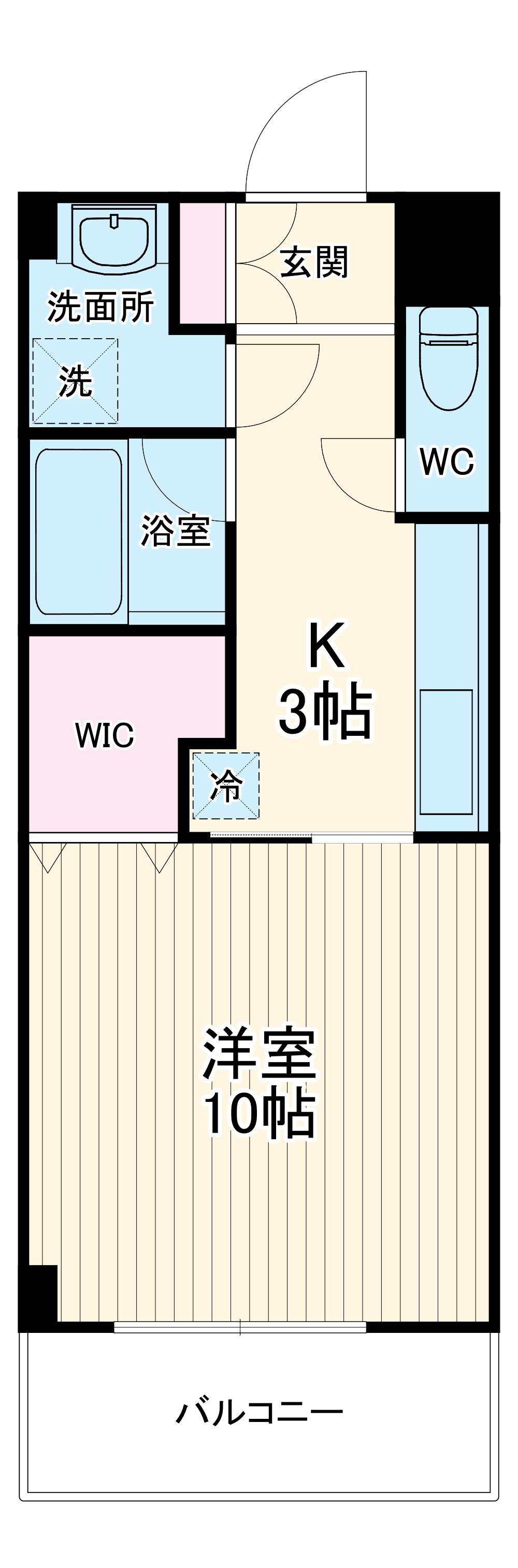 エムツーマンション・303号室の間取り