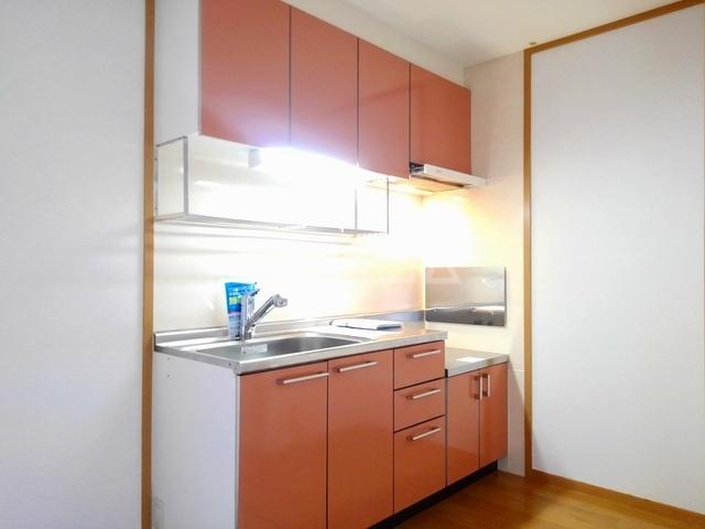 ヴィラ・ロ-ゼⅡ 01010号室のキッチン